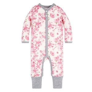 Baby Peony Snap Front Organic One Piece Jumpsuit